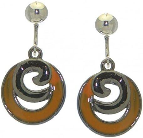 ERIKA hematite yellow clip on earrings