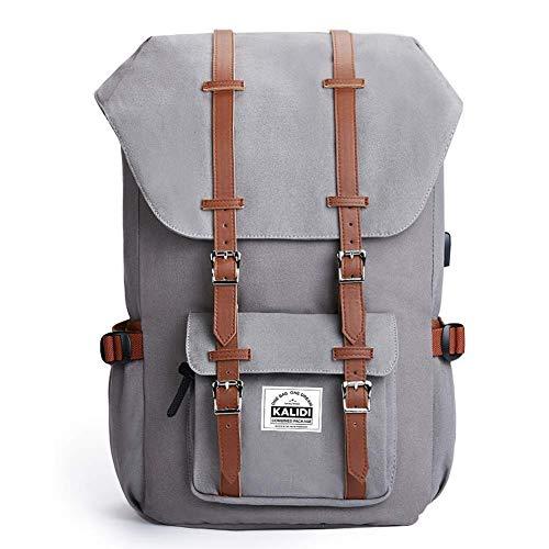 KALIDI 17 Zoll Laptop Rucksack Backpack Schulrucksack für bis zu 15.6 Zoll Laptop Notebook Computer Arbeit Campus Studenten Outdoor Reisen Wandern mit Großer Kapazität (Hellgrau)