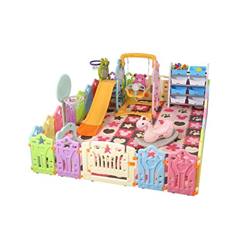 LIUFS-Clôture Parc pour Enfants Activité Centre De Sécurité Divertissement World Toy Venue Enclosure (Taille : C)