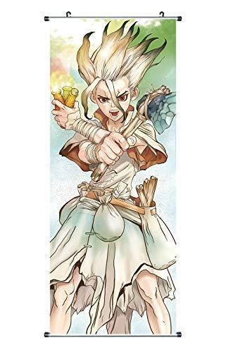 CoolChange Großes Dr. Stone Rollbild / Kakemono aus Stoff, Poster 100x40cm, Motiv: Ishigami Senkuu