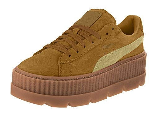 Puma Women's Cleated Creeper Suede Golden Brown/Lark Ankle-High Fashion Sneaker - 9.5M