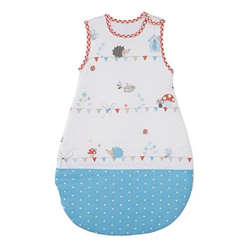 roba Schlafsack, 70cm, Babyschlafsack ganzjahres/ganzjährig, aus atmungsaktiver Baumwolle, Schlummersack unisex, Kollektion 'Vogeltanz'