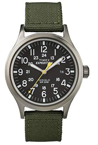 Timex Timex Expédition Scout - Reloj análogico de cuarzo con correa de nailon para hombre, color verde/negro
