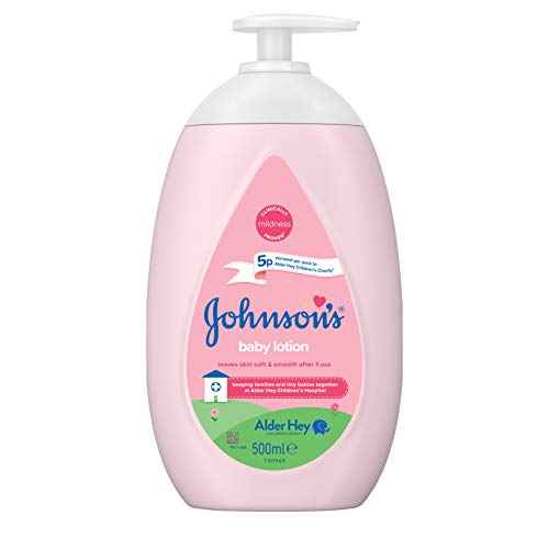 JOHNSON'S Baby Lotion 500ml – Gentle and Mild for Delicate Skin and...