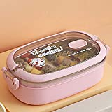 Berrd Fiambrera portátil de acero inoxidable 304 para trabajadores de oficina Bento Box Contenedor de comida para...