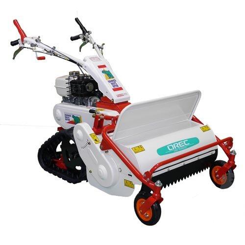 Orec hrc662–déboussailleuse a fleaux sobre orugas–Motor Honda GX270–6,0kW–anchura de trabajo 65cm–38fléaux–Transmisión mecánica par correa–velocidades: 3delantera + 1trasera