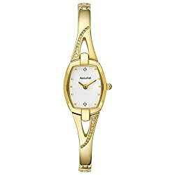 Ideal for a big night out This gold-plated ladies Accurist dress watch features a mother of pearl dial Ideal for special occasions