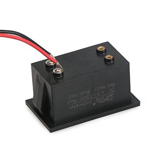 DROK 100444 Waterproof Digital Voltmeter DC 4.5-150V Voltage Tester 12V 24V 48V 72V Volt Battery Meter Automotive Electric Cars Gauges Golf