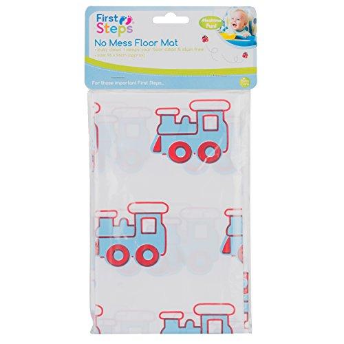 First Steps Tapis de sol facile à nettoyer pour jeu de bébé - 96 x 96 cm – Motif de trains