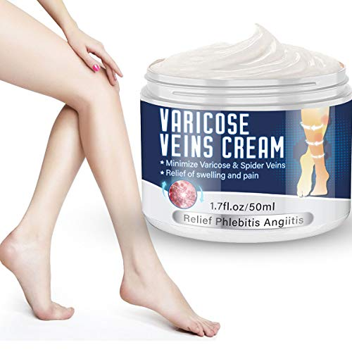 Varicose Veins Cream,Spider Varicose Vein Treatment Cream For Legs,Strengthen Capillary Health, Improve Blood Circulation,Relief Phlebitis Angiitis Inflammation,Tired and Heavy Legs Fast Relief