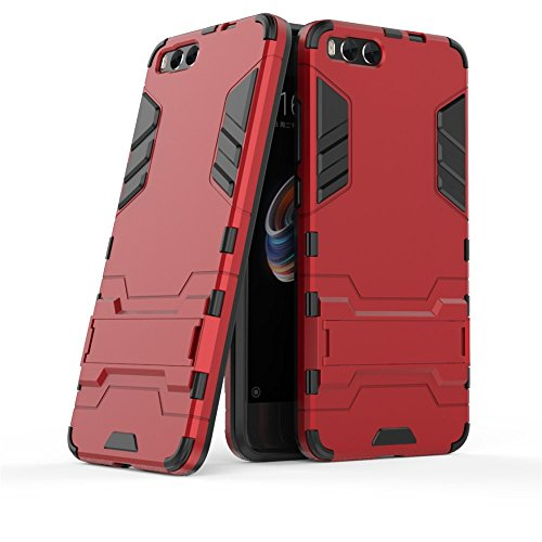 GOGME Funda para Xiaomi Mi Note 3, Soporte Plegable Case, Rojo