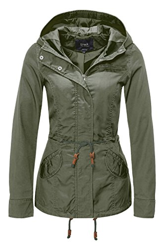ONLY Damen Jacke Onllorca Spring Parka Jacket CC Otw, Grün (Grape Leaf), Gr. S