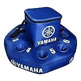 YAMAHA Blue Inflatable Floating 6 to 12 CAN Bottle Drink Holder Cooler MARFLTCLER06