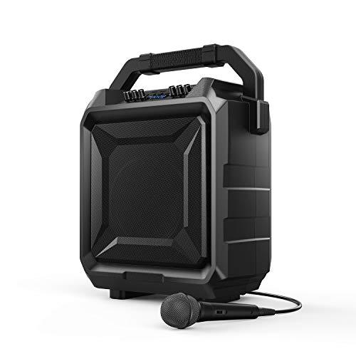 Bomaker Sistema PA Portatile, Cassa Karaoke Bluetooth, 500w Cassa Amplificata Ricaricabile con Microfono e Telecomando, 6 Modalità EQ, Bluetooth/USB 2.0/FM/AUX/Chitarra, Esterno e Famiglia