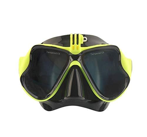 Snorkelmasker, voedselkwaliteit siliconenveiligheidsmateriaal, gehard glas slijtvast, 180 graden onderwater open gezichtsveld, geschikt voor mannen en vrouwen
