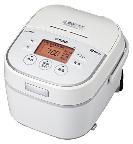 タイガー IH 炊飯器 3合 ホワイト レシピ付 tacook 炊きたて 炊飯 ジャー JKU-A551-W Tiger