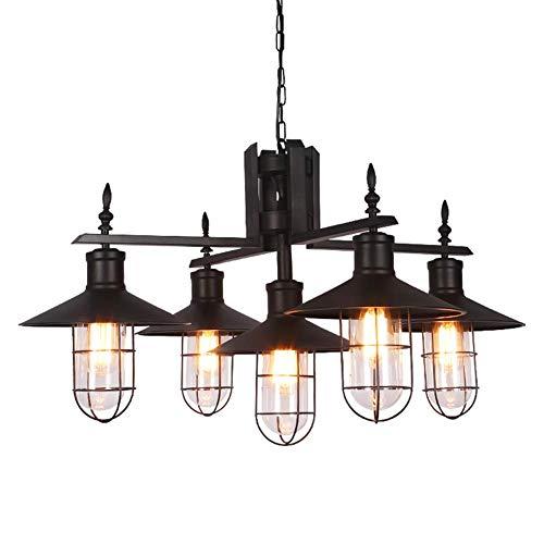 American Antieke Chandelier Loft Industrial Style E27 hanglamp Ristorante bar keuken plafondlamp