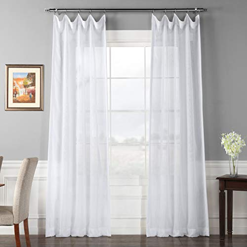 HPD Half Price Drapes SHCH-VOL1-120-DLSW Signature Double Layered Sheer Curtain (1 Panel), 50 X 120, White