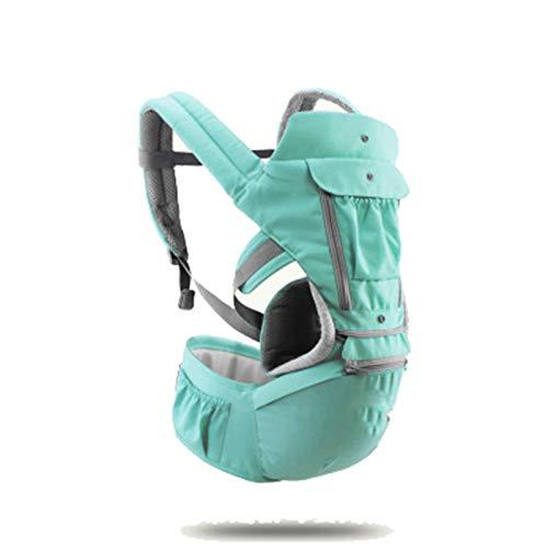HWZZ Portabebés para Bebés Tipo De Retención Frontal Multifuncional Cuatro Estaciones Ventilación General Kid Hipseat Sling para Viajes De Bebé De 0 A 36 Meses,Verde