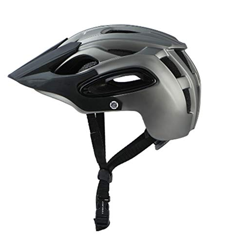 MissLi Casco De Bicicleta Ultraligero De Moda Bicicleta De Montaña Casco De Bicicleta De Una Pieza Casco De Bicicleta, Casco De Bicicleta De Montaña (Color : Gray, Size : Medium)