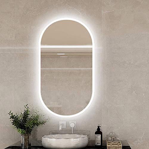 WMDHH Espejo de Pared para baño de 400x600 / 400x700 / 700x500mm con Luces LED, IP44, Espejo de Maquillaje Ovalado LED/Espejo de Afeitar, Hotel/Dormitorio/Baño/Salón Espejo con luz LED