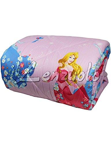 Disney Trapunta invernale letto singolo in microfibra di Caleffi PRINCESS Romantica