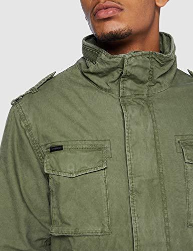 Superdry Classic Rookie Jacket Chaqueta, ejército, L para Hombre
