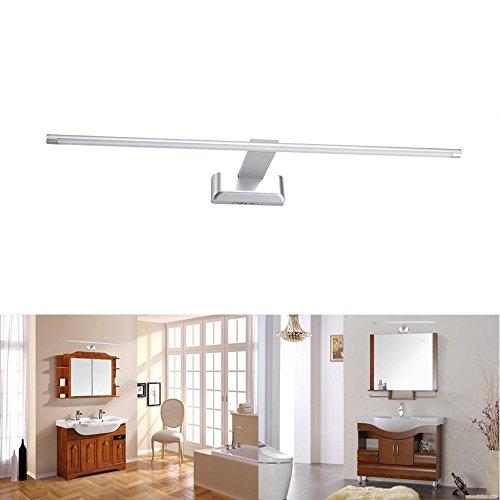 SUBOSI 9W 48 LED 2835 SMD Lámpara de Pared para Baño Espejo Aplique Luz Acero Inoxidable (Blanco)
