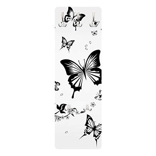 Apalis Kinder Garderobe Flurgarderobe Blumen und Schmetterlinge Kinderzimmer 139 x 46cm