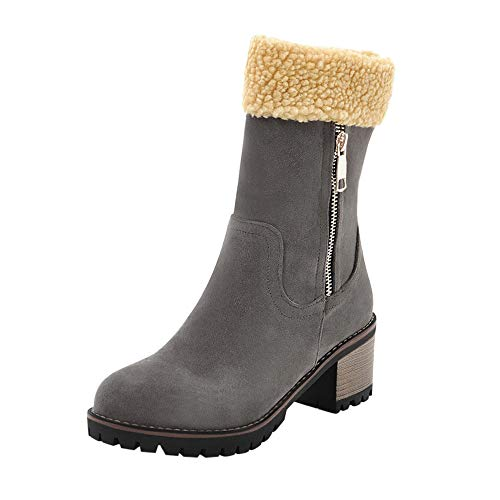 ZODOF Zapatos para niños Bebé Niños Lentejuelas Niñas Patchwork Navidad Warm Boots Niños Bebé Invierno Zapatos