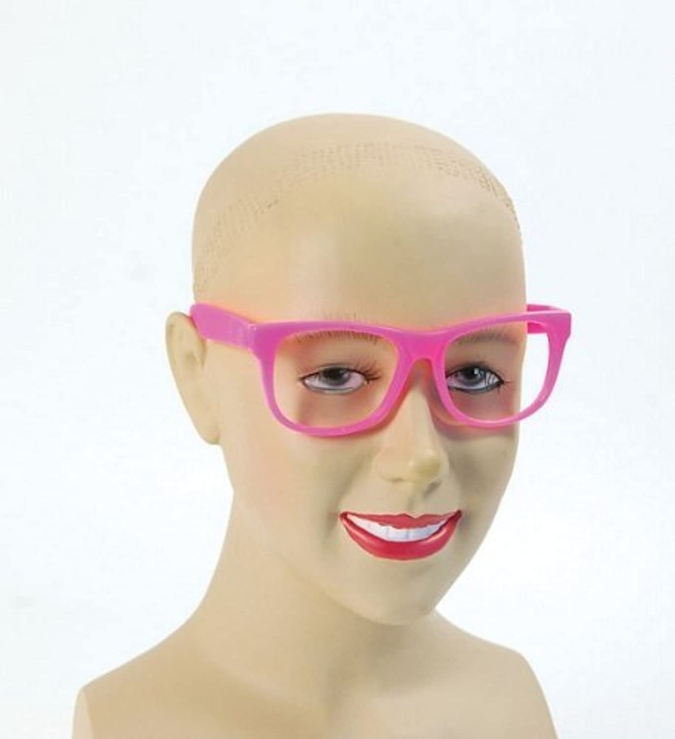 Pink Adults Retro Glasses by fancy dress warehouse