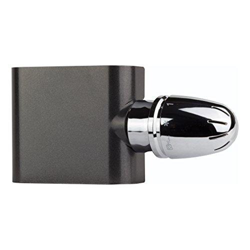 Ventil-Armaturen Set Multiblock Universal Durchgang für Heizkörper mit Mittelanschluss inkl. Thermostatkopf anthrazit Einrohr