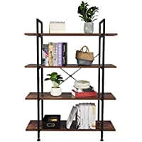 Teeker 4-Tier Industrial Bookcase and Book Shelves