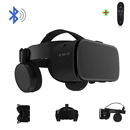 3D Virtual Reality VR Headset with Wireless Remote Bluetooth, VR Glasses for Movies & Video Games IMAX, Compatible for Android iOS iPhone 12 11 Pro Max Mini X R S 8 7 Samsung 4.7-6.2' Cellphone
