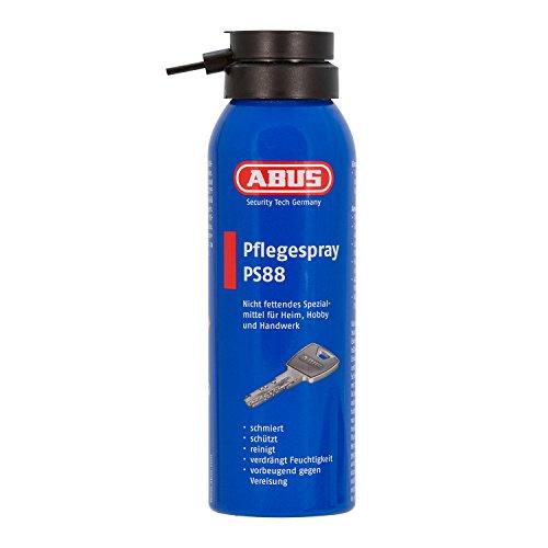 ABUS Pflegespray PS88 - Fettfreier Schmierstoff für Türzylinder, Autoschlösser, Werkzeuge - schützt vor Feuchtigkeit und Vereisung