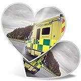 Impresionante pegatinas de corazón de 7,5 cm – Ambulancia servicios de emergencia divertidos calcomanías para portátiles, tabletas, equipaje, reserva de chatarra, frigorífico, regalo genial #15804