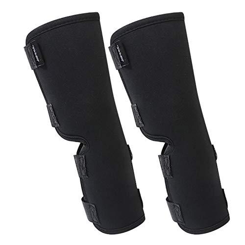 POHOVE 2 x Kniebandagen für Hunde, für Rücken, Bein, zusätzliche Stützbandage, magische Aufkleber, für Hunde-Bein-Bandage für Verstauchungen, Verletzungen, Erholung