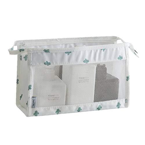 Sac de toilette sergé maille Organisateur de lavage Sac Hanging Voyage Kit étanche pour salle de bains douche - Cactus