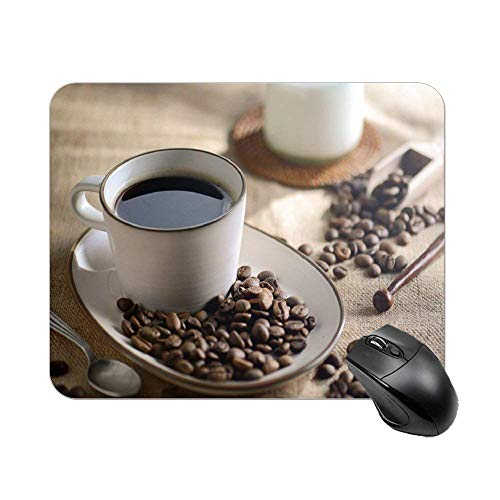 Kaffee und Bohnen Maus Pad