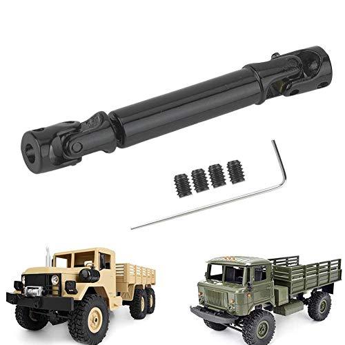 Dilwe RC Antriebswelle, RC Crawler Car Metal Transmission Antriebswelle passt für WPL 1/16 Mini Military Truck(schwarz)