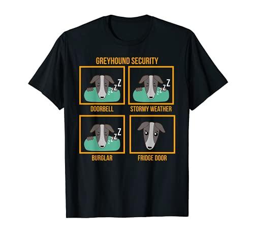 Greyhound Security   Regalo para perro con revestimiento suave Cool Safe Camiseta