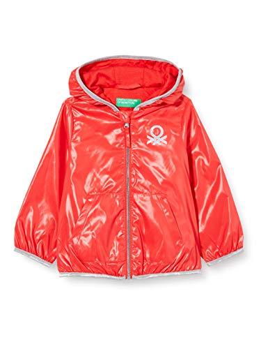 United Colors of Benetton Baby-Mädchen Giubbino Sportjacke, Rot (Bittersweet 1v1), 80/86 (Herstellergröße: 1y)