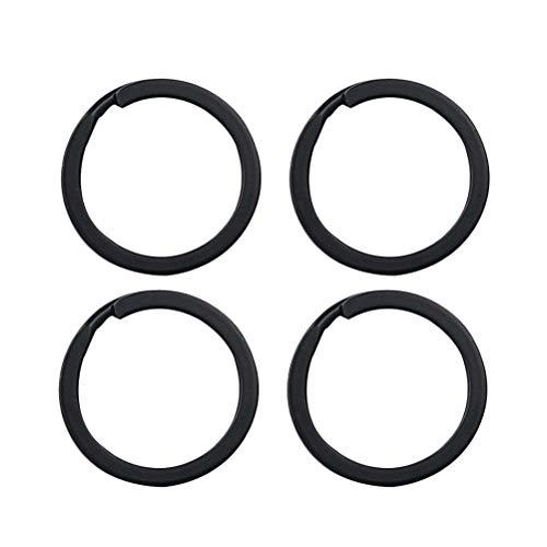 Toyvian - Confezione da 24 Anelli Portachiavi in Ferro, Colore: Nero