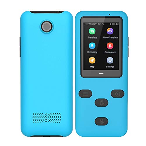 M STAR Portable Translator Supports 45+ Languages Translator 4G WiFi Simultaneous Voice Language Translation Equipment, for Conference, Travel, Study, Shopping,Blue