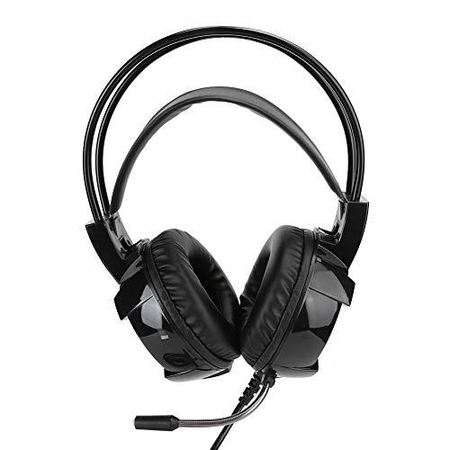 Yctze Cuffie da Gioco USB Cuffie Stereo con Cavo HiFi con Audio ad Alta risoluzione Cuffie con Microfono Over-Ear On-Ear per Smartphone Computer Portatile PC Mp3   4