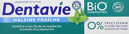 DENTAVIE Dentifrice Haleine Fraîche Eau Florale de Menthe Bio Dentavie