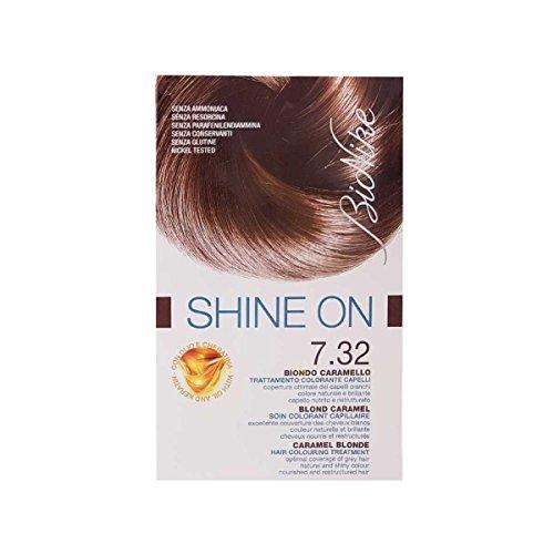 BioNike Shine On Trattamento Colorante Capelli Biondo Caramello 7.32-1 Confezioni da 75 milliliters