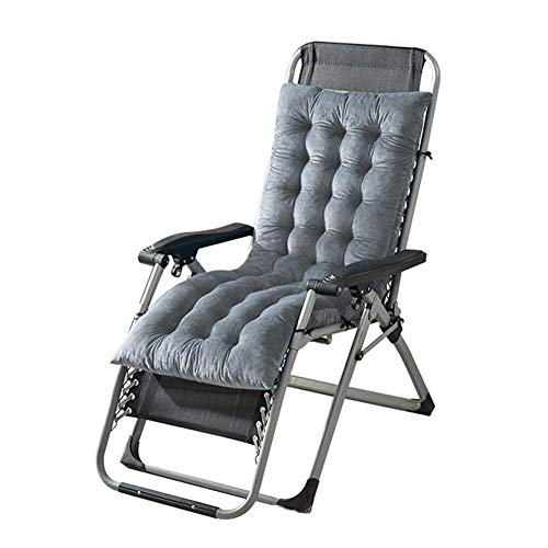 whelsara Cuscini per sedie a Sdraio, Cuscini Lavabili Chaise Materasso da Giardino reclinabile Trapuntato Imbottito Cuscino Seduta Sedia a Dondolo per Ufficio Esterno Interno