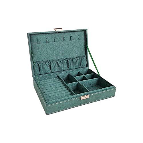 Pulsera de cuadros Oído Collar Decorativo Recepción Caja de Joyería Pendientes Mujer Joyería-Verde, A