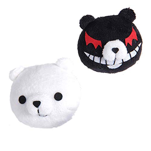 TIMSOPHIA Women's Headwear Anime Cosplay Hairpin Girls Monokuma Costume Hair Accessories Black White Bear Clip for Birthday Party